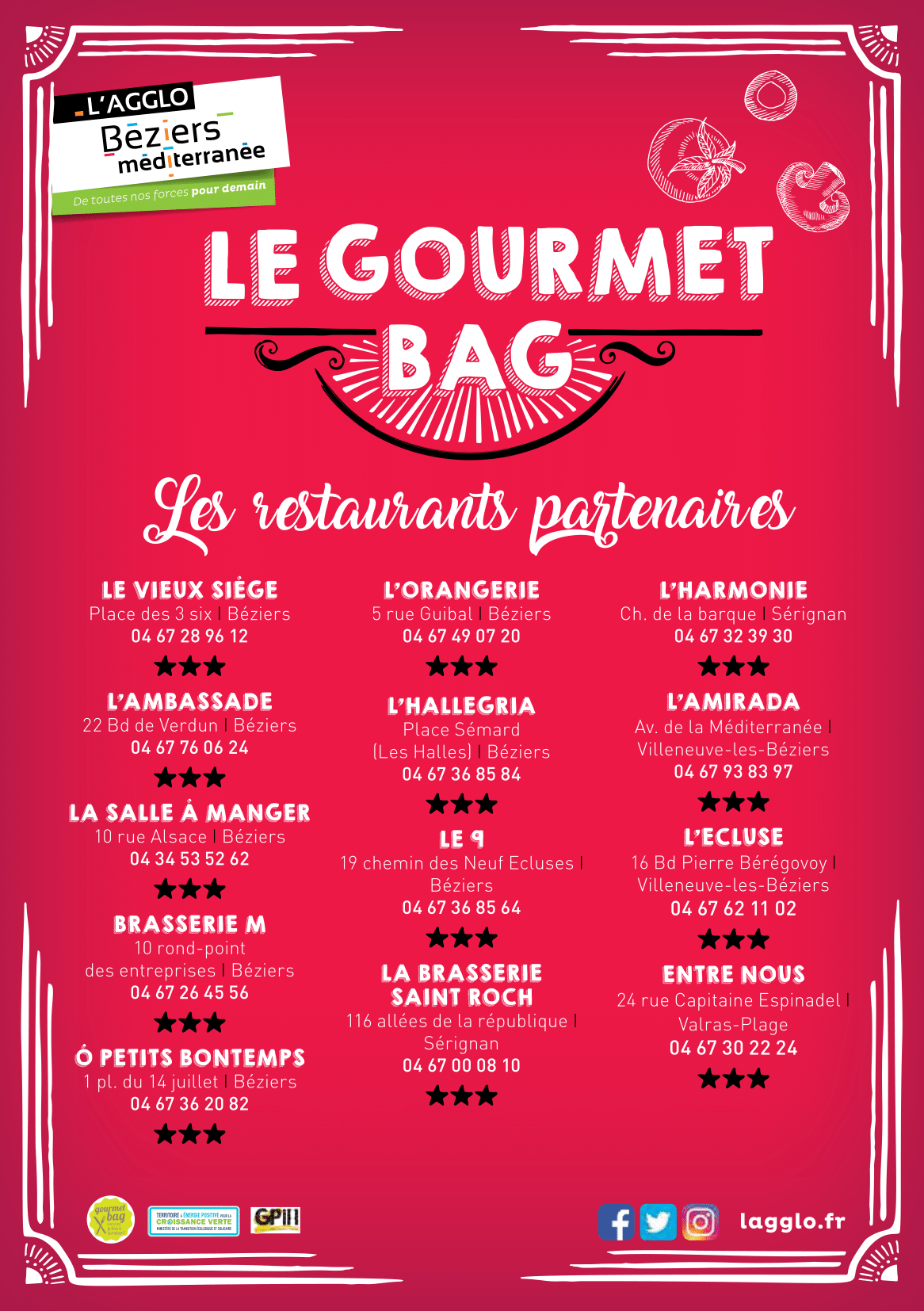 flyer restaurant gourmet bag
